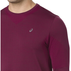asics Seamless LS Shirt Men Cordovan